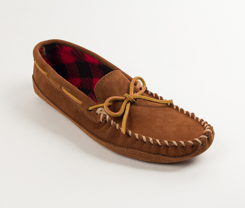 Men's Minnetonka Double Bottom Fleece Moccasin Slipper #773