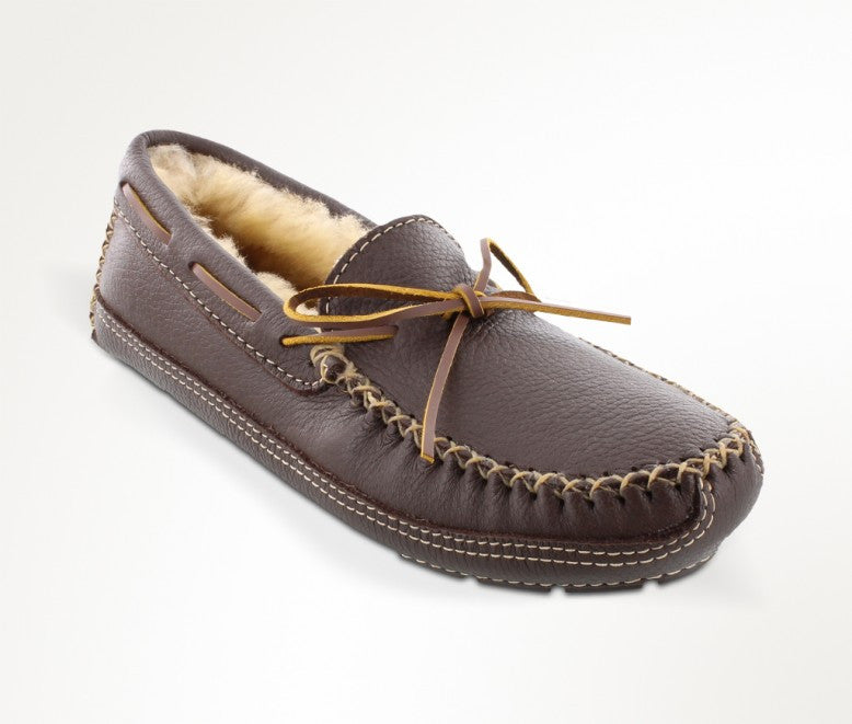 Men's Minnetonka Moose Sheepskin Slipper #3752
