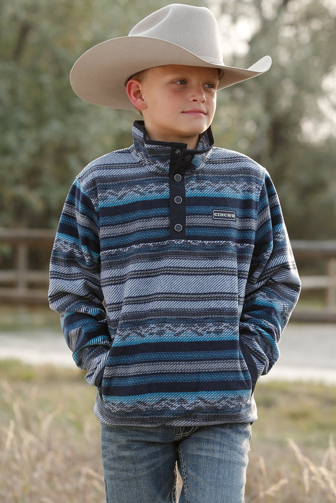 Boy's Cinch Printed Polar Fleece #MWK7590004MUL