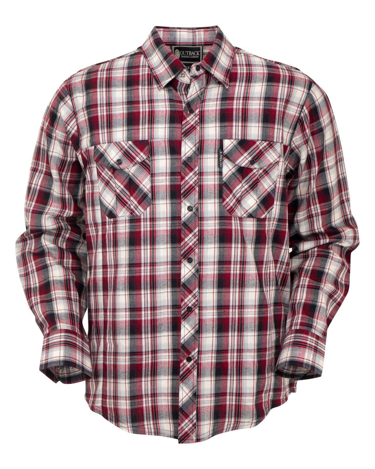 Men's Outback Trading Company Butch Snap Front Shirt #42713-RED