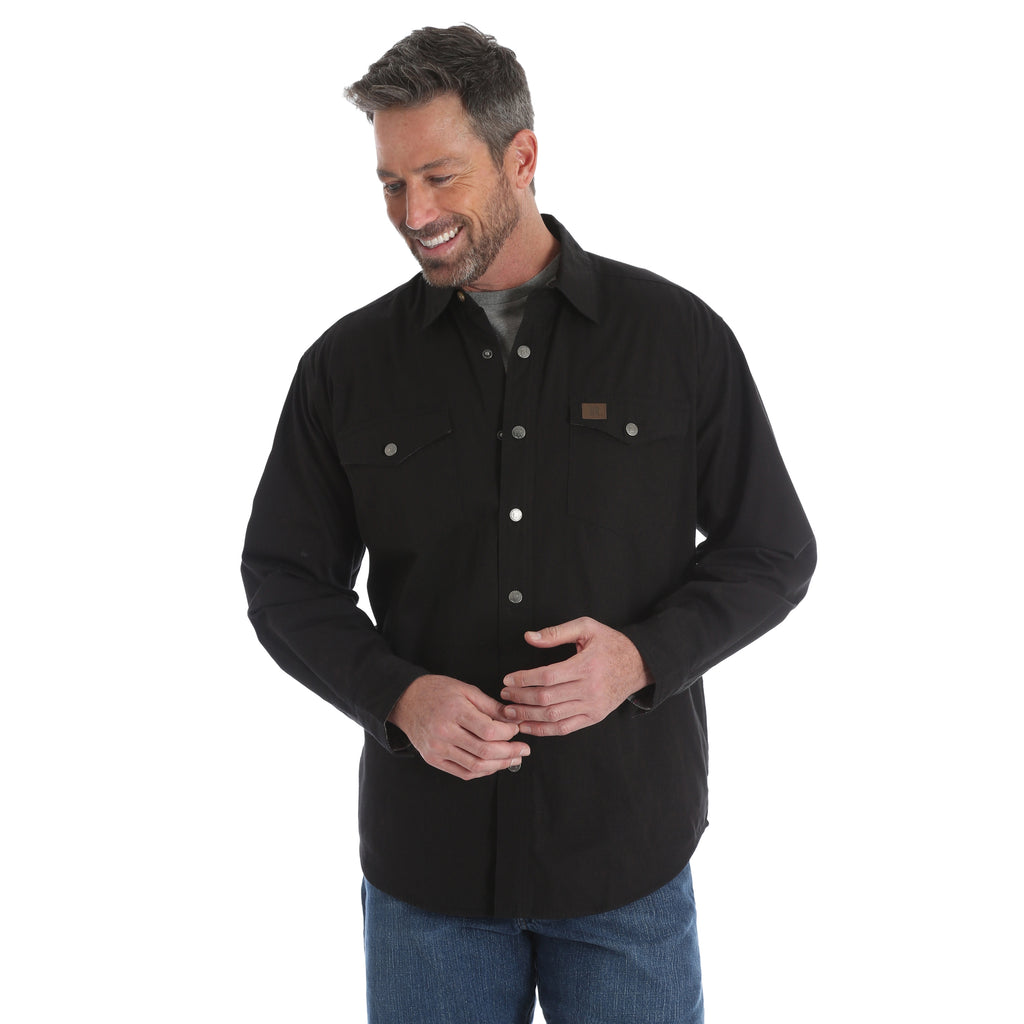 Men's Wrangler Riggs Workwear Flannel Lined Snap Front Shirt #3W526OBX (Big and Tall)