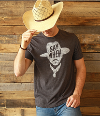 Men's Mason Jar Label T-Shirt #SAYWHEN
