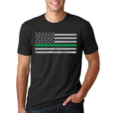 Men's Thin Green Line T-Shirt #SGL-BLK
