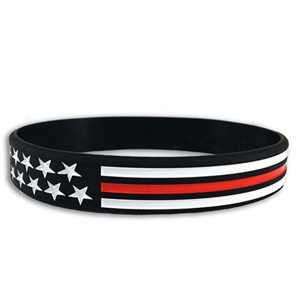 Thin Red Line American Flag Bracelet #TRL-AM-BR