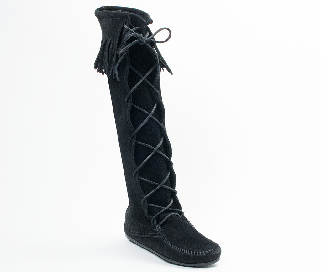 Women's Minnetonka Front Lace Knee Hi Boot #1429