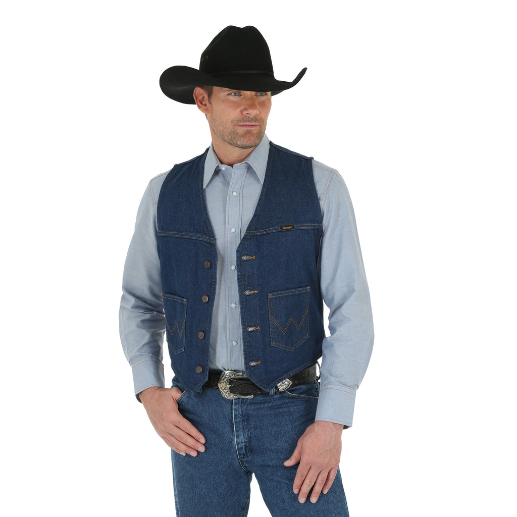 Men's Wrangler Unlined Denim Vest #74130PW