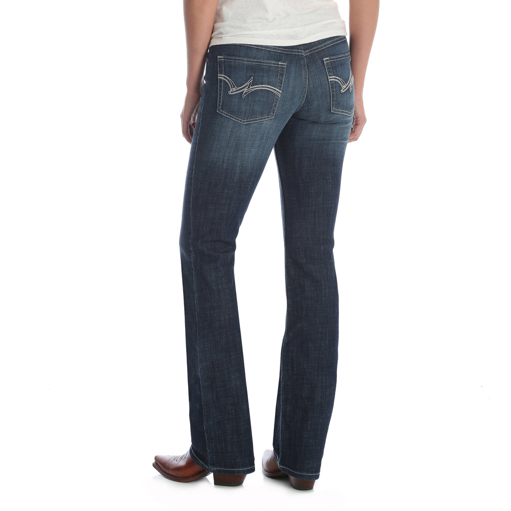 Women's Wrangler Mid-Rise Boot Cut Jean #09PWZDO (Plus Sizes)