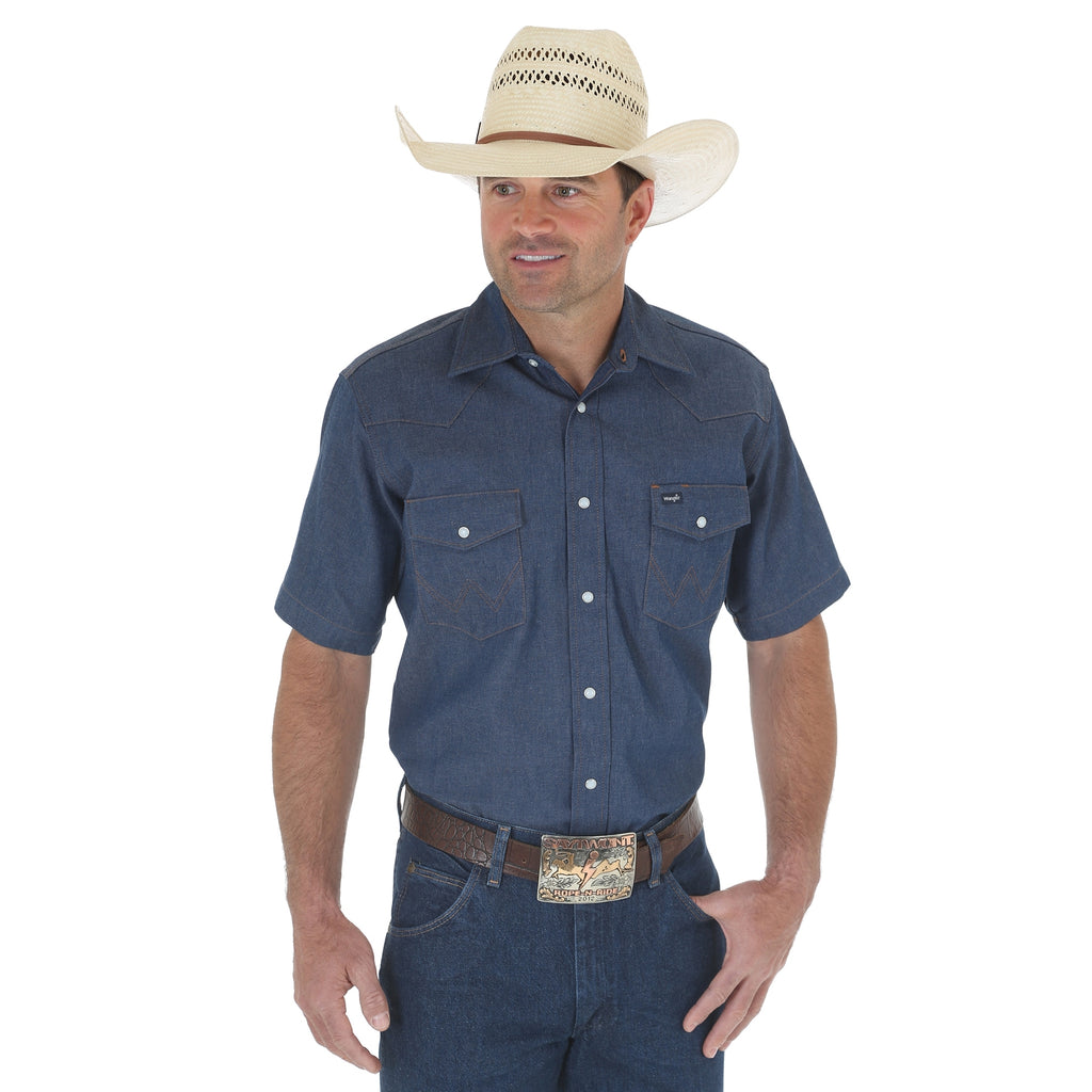 Men's Wrangler Authentic Cowboy Cut Snap Front Work Shirt #MS3127BX (Big and Tall)