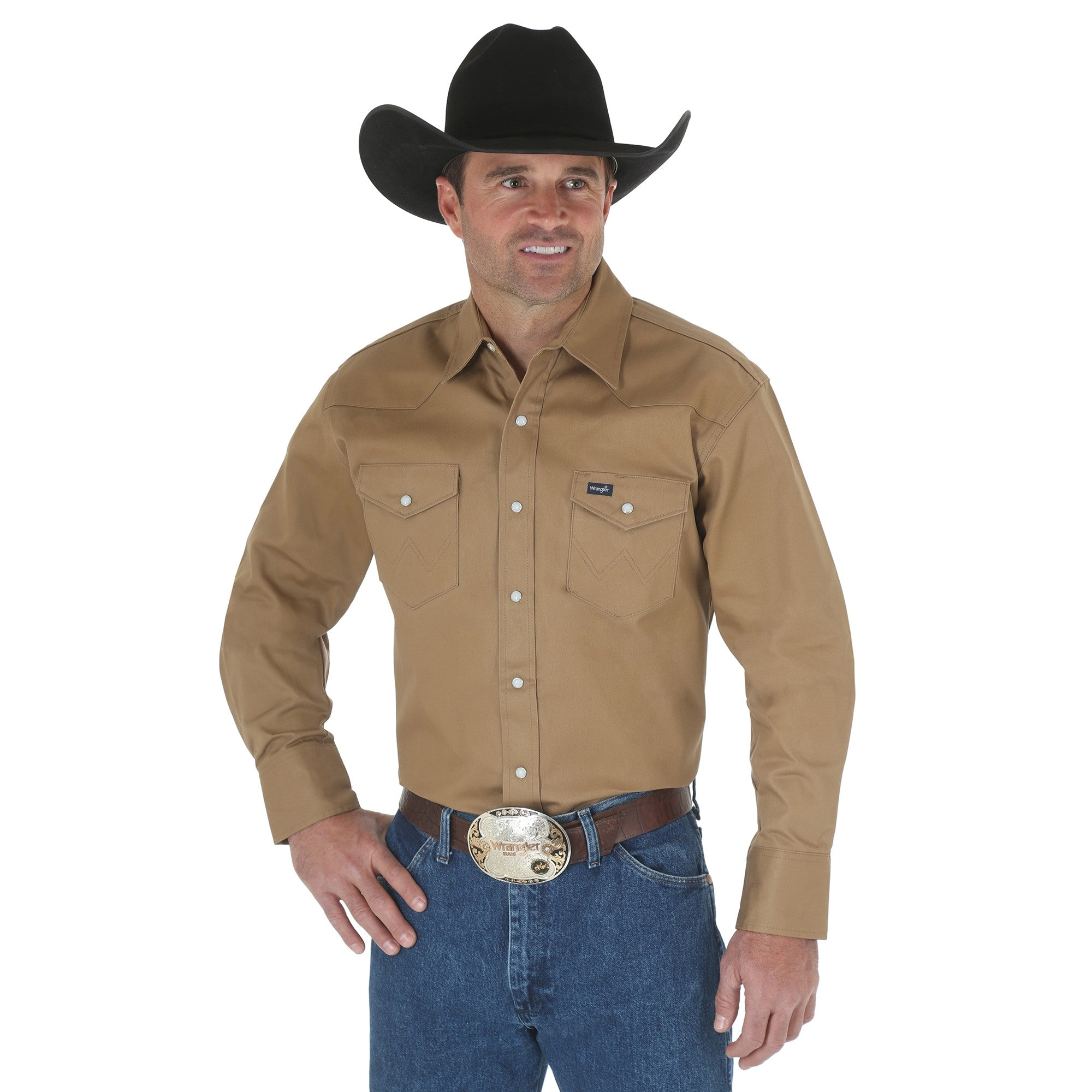 Men's Wrangler Authentic Cowboy Cut Snap Front Work Shirt #MS71519X (Big and Tall)
