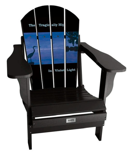 The Tragically Hip - Custom Sports Chair - In Violet Light