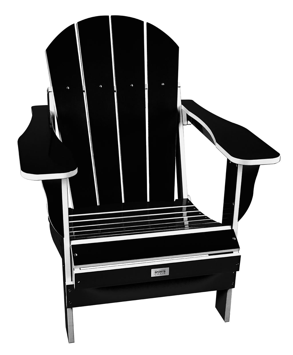 TL Black/White Folding Chair