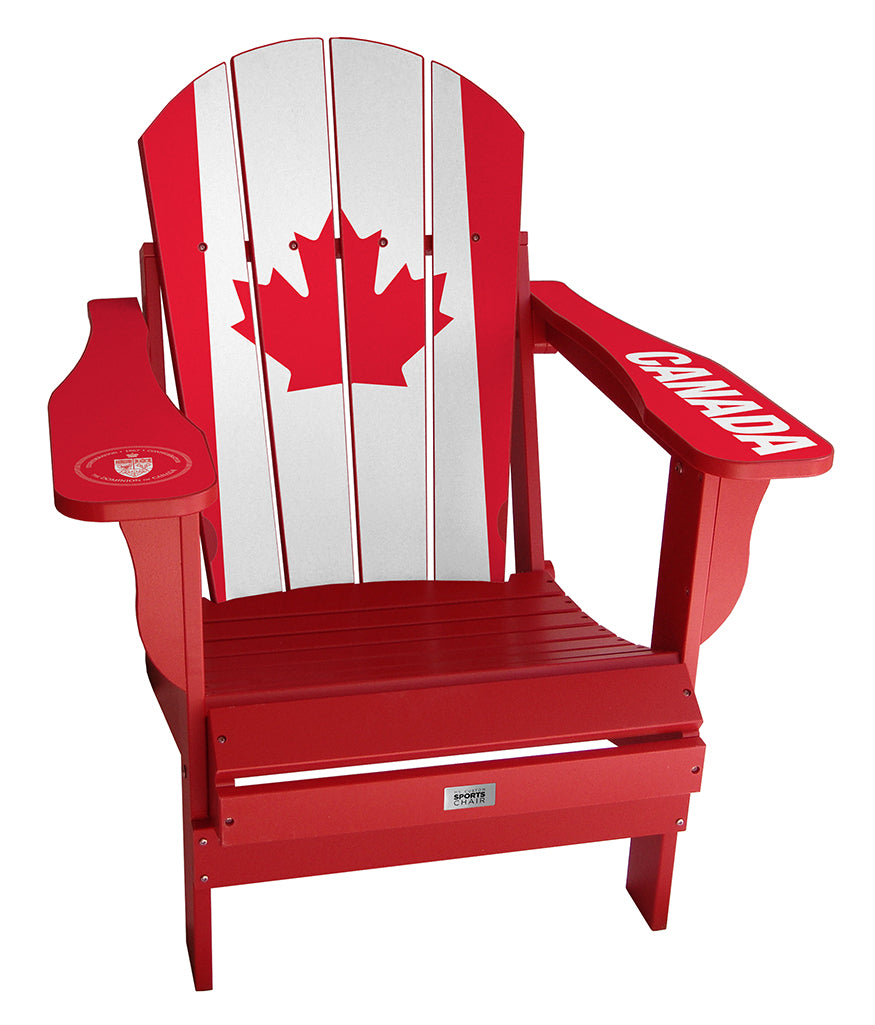 Canada Flag Complete Custom with personalized name and number Chair