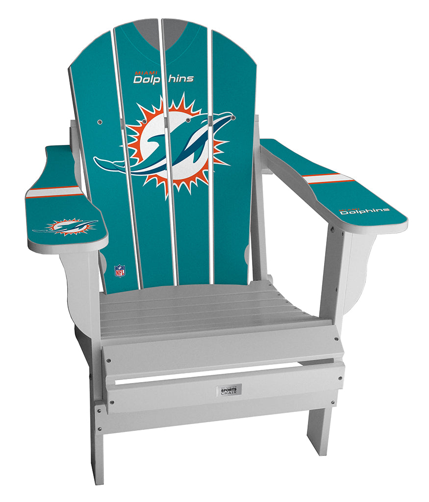 Miami Dolphins Complete Custom with personalized name and number Jersey Chair
