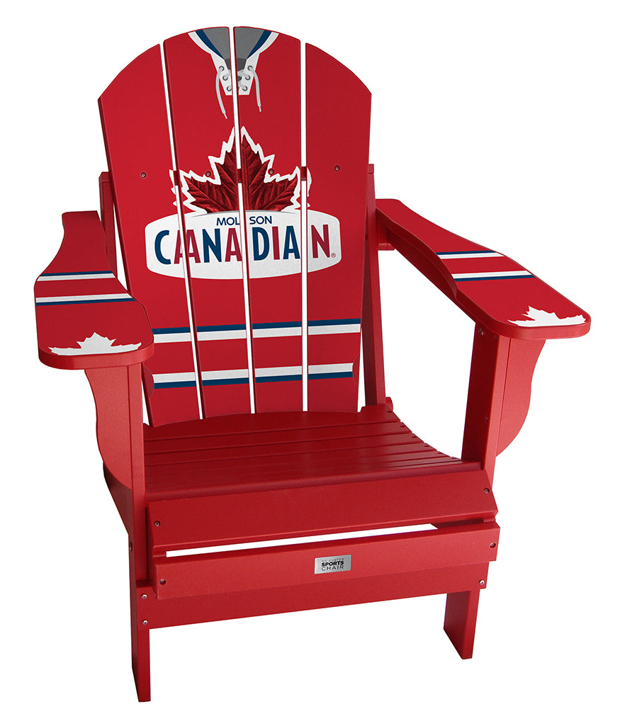 Molson Canadian Red Complete Custom with personalized name and number Chair Mini