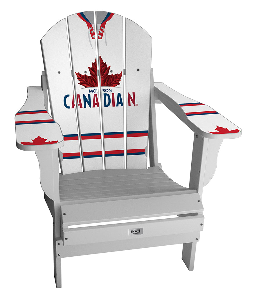 Molson Canadian White Complete Custom with personalized name and number Chair Mini
