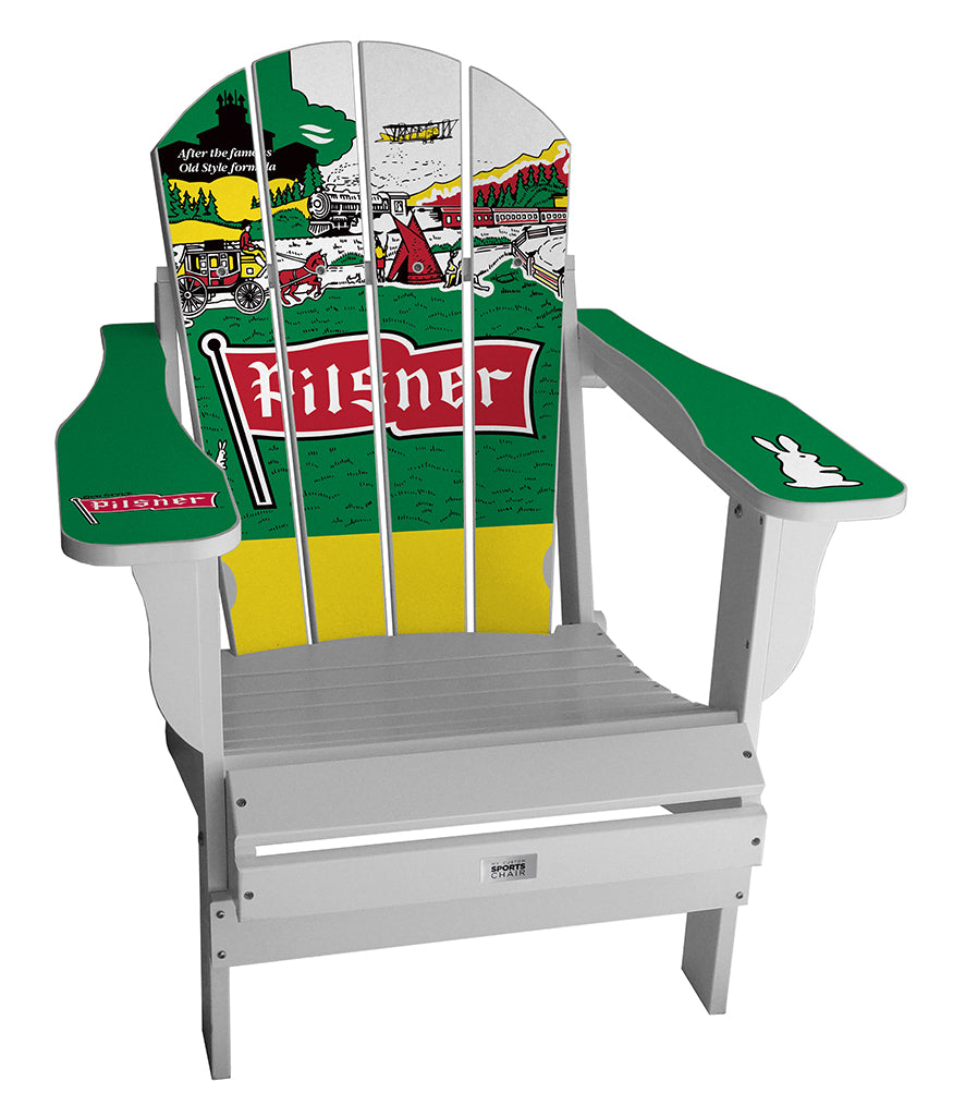 Old Style Pilsner Complete Custom with personalized name and number Chair