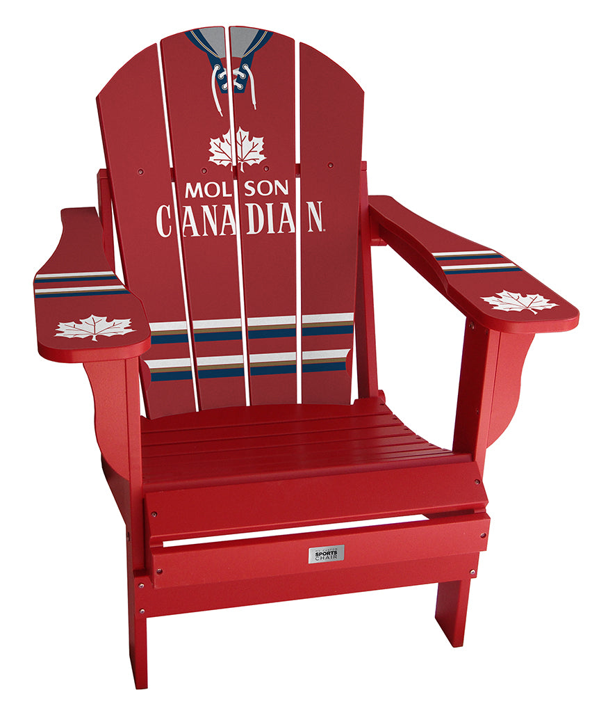 Molson Vintage Red Complete Custom with personalized name and number Chair