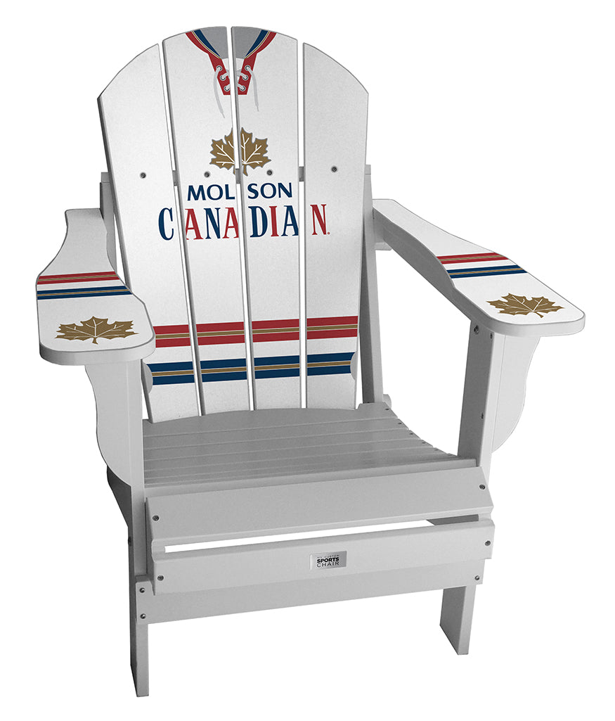 Molson Vintage White Complete Custom with personalized name and number Chair