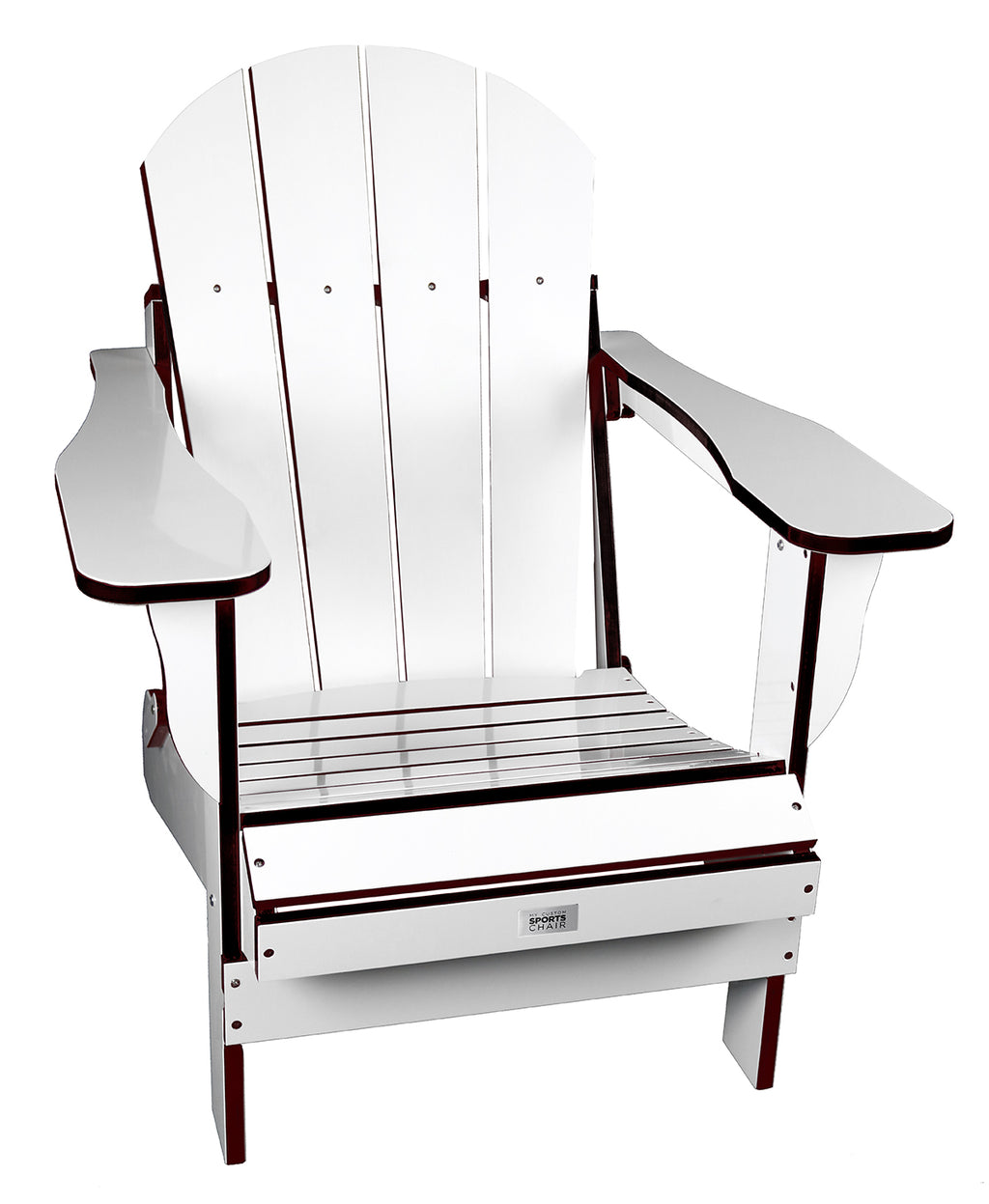 TL White/Black Folding Chair