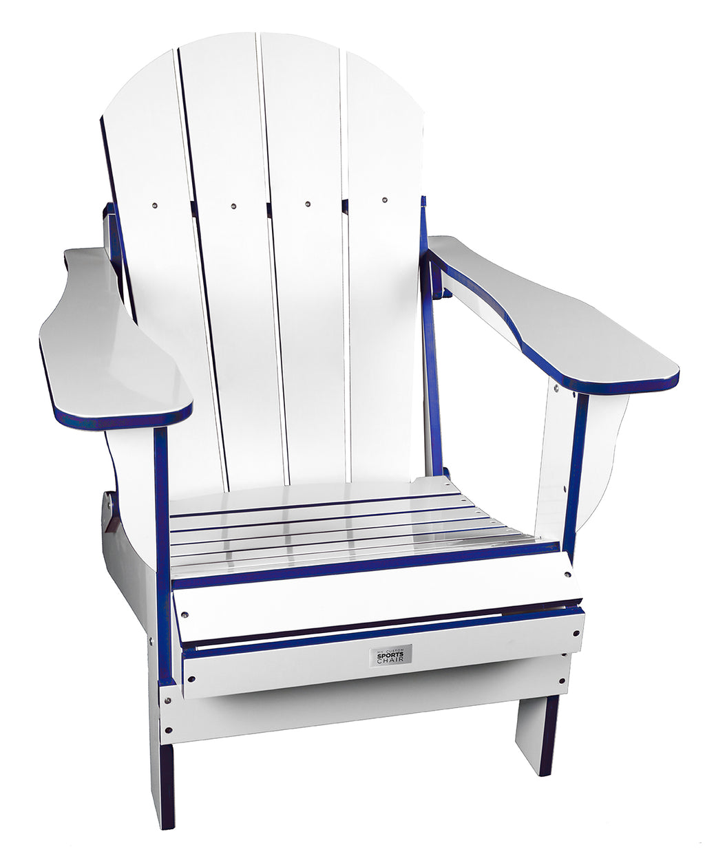 TL White/Blue Folding Chair