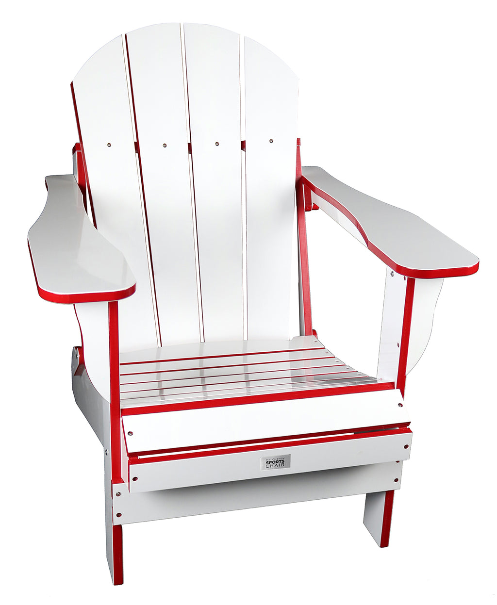 TL White/Red Folding Chair
