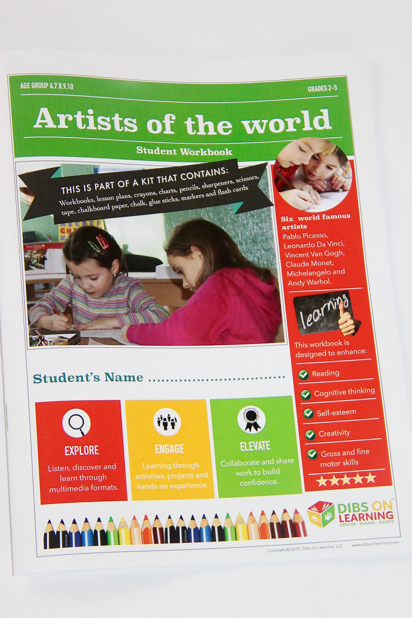 Digital student workbook download - Artists of the world (with free lesson  plans)