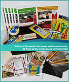 Artists of the world - group enrichment kit (free shipping within USA)