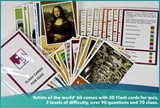 Artists of the world - flashcards kit (free shipping within USA)