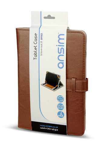 Ansim Executive Universal Tablet Case Office 8 - Brown - Ansim Ltd - 1