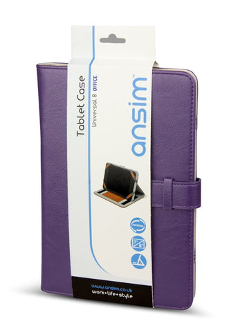 Ansim Executive Universal Tablet Case Office 8 - Purple - Ansim Ltd - 1