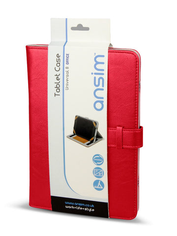 Ansim Executive Universal Tablet Case Office 8 - Red - Ansim Ltd - 1