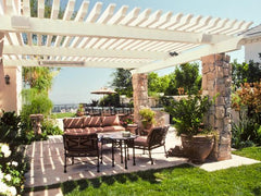 Laguna Lattice - White Outdoor Patio