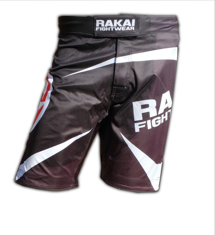 Black Urban Samurai MMA Shorts