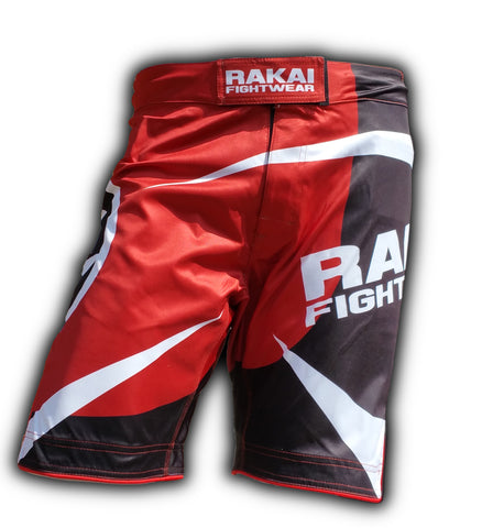 Red Urban Samurai MMA Shorts