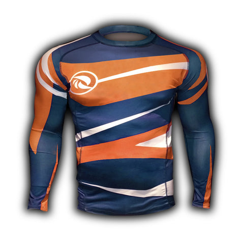 Orange Blue Urban Samurai Rashguard