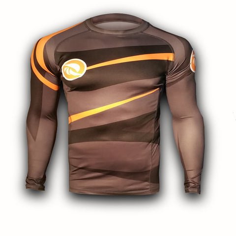 Grey - Orange Urban Samurai Rashguard