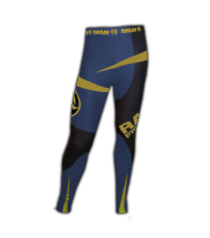 Midnight Gold Rakai fightwear Urban Samurai  Spats