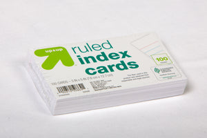 Ruled Index Cards