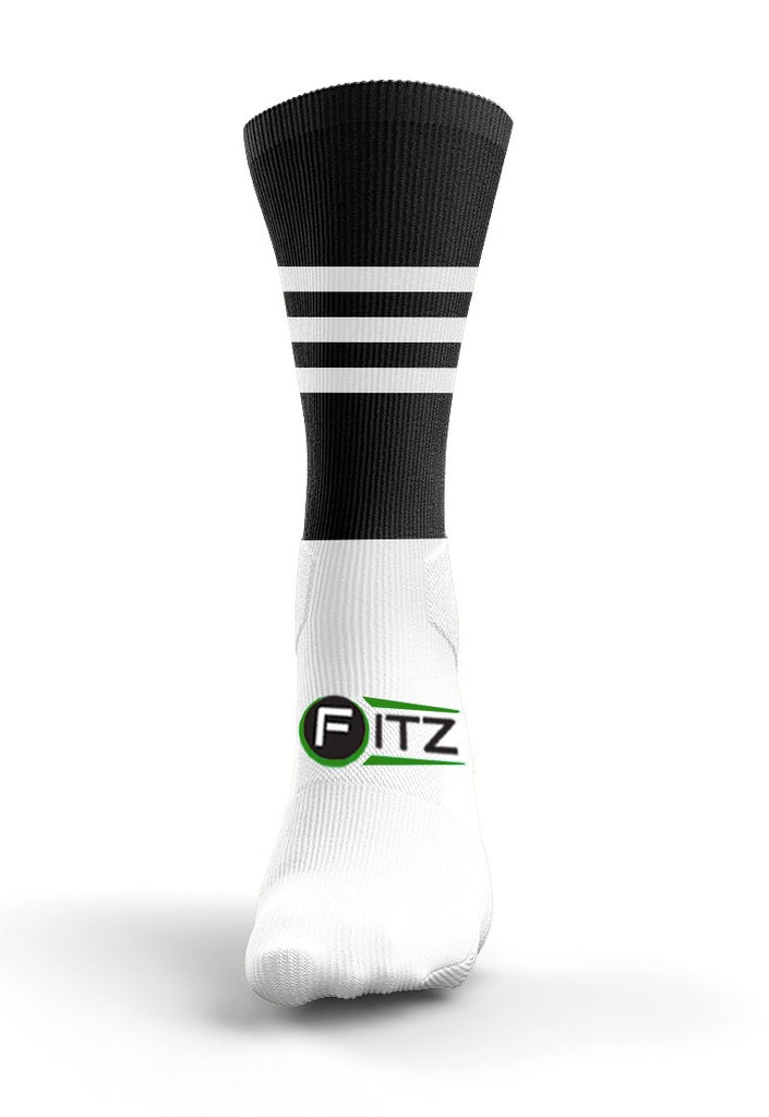Fitz Black White Mid Socks - Fitz Hurleys