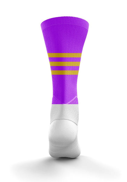 Fitz Purple Gold Mid Socks - Fitz Hurleys