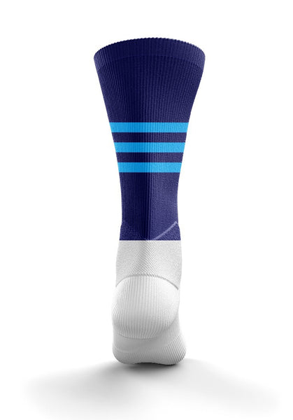 Fitz Navy Light Blue Mid Socks - Fitz Hurleys