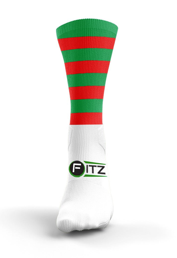 Fitz Red Green Hopped Mid Socks - Fitz Hurleys
