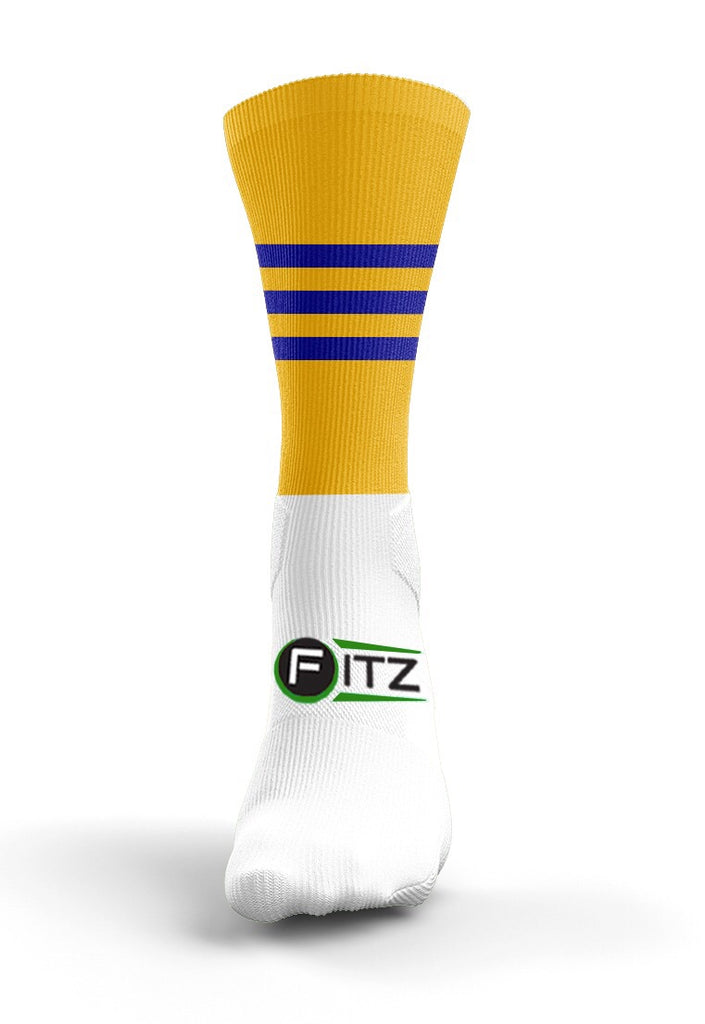 Fitz Gold  Blue Mid Socks - Fitz Hurleys