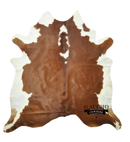 Brown & White Bellie Cowhide