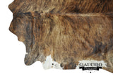 Brown & White Brindle Cowhide