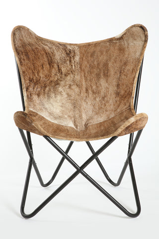 **SALE ** Brown Brindle Cowhide Butterfly Chair