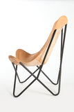 Birch Leather Butterfly Chair