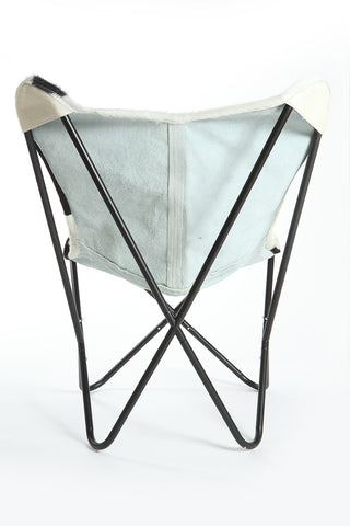... Black U0026 White Cowhide Butterfly Chair ...