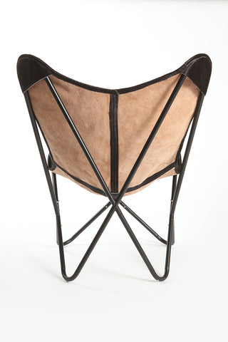 ... Espresso Cowhide Butterfly Chair ...