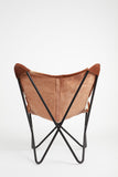 Brown & White Cowhide Butterfly Chair